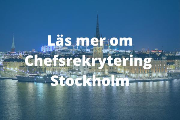 Chefsrekrytering Stockholm med Ants